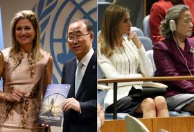 Donne e potere: Letizia e le altre alle Nazioni Unite. Foto