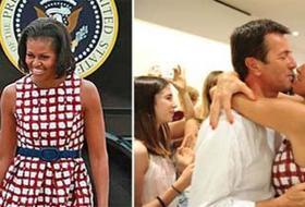 Cristina Parodi, first lady di Bergamo, festeggia con l'abito di Michelle Obama