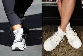 Passione sneakers: tendenze da star, dalla Hunziker alla Marcuzzi