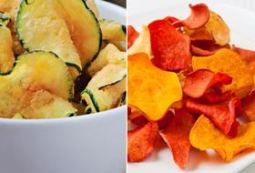 Buone come le patatine fritte ma dietetiche: verdure chips diverse