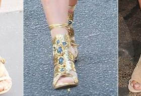 Kim Kardashian e i sandali stretti che stritolano i piedi. Orrore