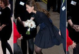 Kate Middleton: un colpo di vento e quasi si sfiora l'incidente
