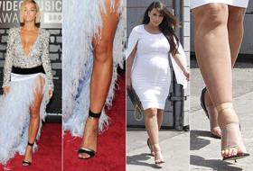 Gioiello, strizzati, griffati: i sandali scelti dalle celebrities