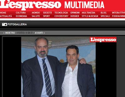 Di Girolamo abbracciato al boss