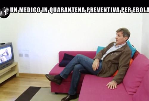 Il medico italiano messo in quarantena. Le foto