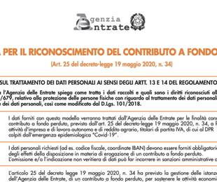 Contributi fondo perduto via alle domande all Agenzie delle entrate per bonus 1000 euro Ecco come fare