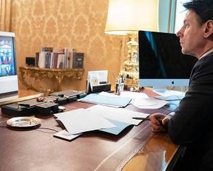 Palazzo Chigi Conte ministri lavoro per ore Rilancio migranti 'è sintesi governo