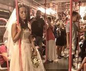 Milano, si aggira solitaria in metro e nei parchi: chi è la sposa triste?