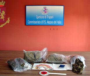 Arrestati a Mazara due pregiudicati e sequestrata droga per un valore di 80.000 '