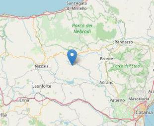 Terremoto ML 2.6 il 25-04-2020 ore 11:34 a 5 km SE Troina, EN,